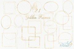 Gold Frame Clipart download. Commercial use. Golden Frames Product Image 2