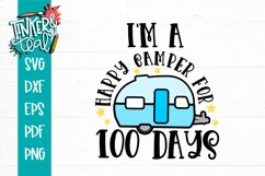 I'm A Happy Camper for 100 Days School SVG Product Image 2