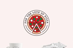 For the Love of Pizza Logo Template Product Image 2