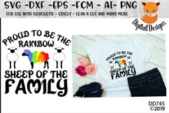 Proud To Be The Rainbow Sheep LGBT SVG Product Image 1
