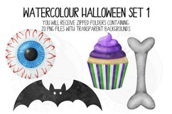 Watercolor Halloween Clip Art Set 1 Product Image 4