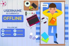 Cute Boy Offline Twitch Banner Product Image 1