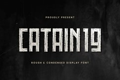 Web Font CATAIN19 Product Image 1