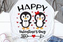Happy Valentines Day Svg, Cute Penguin Svg, Funny Kids Svg Product Image 1