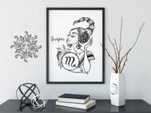 Zodiac. Beautiful girls in the zodiac signs. Digital clipart Product Image 4
