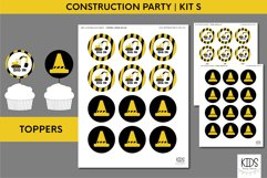 Construction birthday party printable decorations, party kit Product Image 6