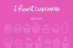 I Heart Cupcakes Dingbat Font Product Image 5