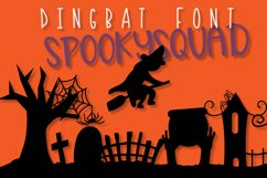Spooky Squad - A Halloween Dingbat Font Product Image 2
