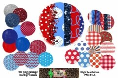 Patriotic July 4th Grunge Backgrounds for Dye Sublimation Product Image 1