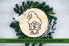 Santa Gnome Monogram - A Hand-Drawn Monogram Font Product Image 1