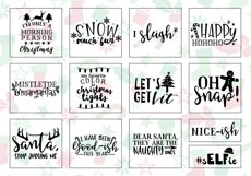 Funny Christmas Phrases SVG Cut File Bundle Product Image 2