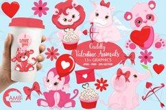 Happy Valentine clipart, Valentine jungle clipart, graphics illustrations AMB-1577 Product Image 1
