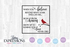 Cardinal Memorial Quote SVG Product Image 1