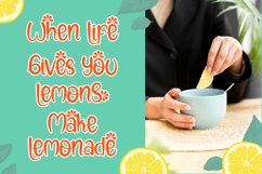 Lemon Rolls - A Cute and Quirky Font Product Image 2