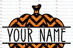 Pumpkin Monogram and Split Frames SVG Bundle Product Image 7