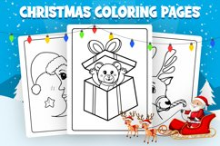 Christmas Coloring Pages - KDP Interior Product Image 2
