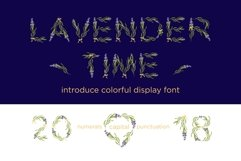 LAVENDER-TIME multicolor font Product Image 1
