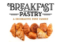 Breakfast Pastry - a decorative font family! Product Image 1