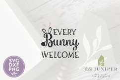 Front Door Easter Sign SVG, Every Bunny Welcome SVG Product Image 2