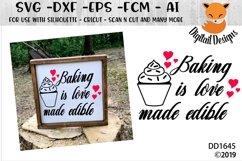 Baking Is Love Made Edible Kitchen SVG Product Image 1