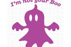 Not Your Boo Decal Design Product Image 1