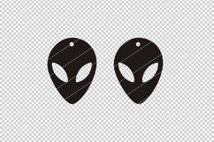 Alien Earrings svg,UFO earrings,Sci fi earrings,alien svg Product Image 2