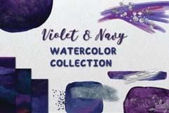Violet and Navy Watercolor Collection Product Image 1