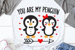 Valentines Day Svg, You Are My Penguin Svg, Kids Valentines Product Image 1
