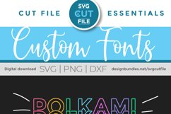 Polkami - a polka dot mirror font with stacked letters OTF Product Image 4