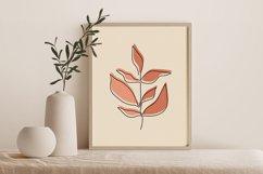 One Line Leave Wall Art, Leaf Wall Print, Minimalist Leave Product Image 2