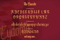 Cydonia - The Blackletter Font Product Image 2