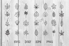 hand drawn doodle leaves svg cut files Product Image 1