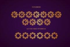 Flower Mandala Monogram Font Product Image 5