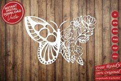 Papercut Beautiful Butterfly Floral Arrangement Product Image 5