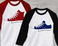 Canvas Sneakers SVG File Cutting Template Product Image 1