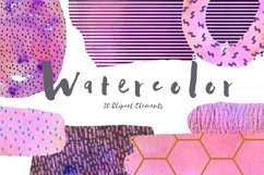 Fun & Colorful Watercolor Abstract Clip Art Set Product Image 1