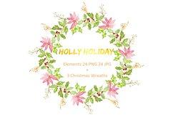 Christmas watercolor clipart bundle Product Image 2