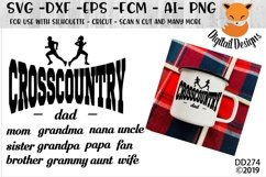 Cross Country Family Running SVG Product Image 1