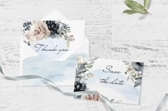 Watercolor Clipart Wedding Geometric frames Heart flowers Product Image 5