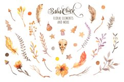 Boho Chick Watercolor Cliparts Product Image 6