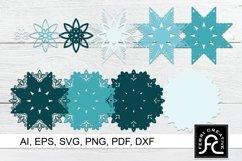 3D Layered Snow Mandala - SVG - Vol 3 Product Image 2