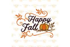 Happy Fall Pumpkin svg Product Image 2