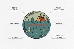 Adventure Graphic. Three round logos in doodle style Product Image 4