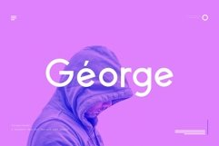 George Sans - 8 Fonts Geometric Typeface Product Image 2