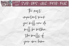 The Most Important Work You Will Ever Do, Family Quote SVG Product Image 2