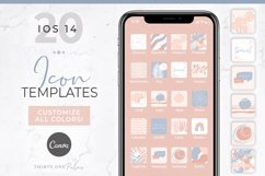 iOS 14 Icon Canva Template | App Icons | Rose Product Image 1
