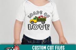 Loads Of Love Dump Truck Valentine SVG Product Image 2