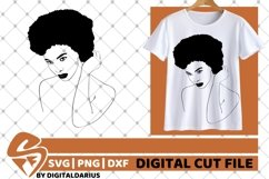 7x Black Woman Bundle SVG, afro lady svg, Africa, Queen svg Product Image 6