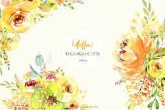 Watercolor flowers - Yellow February Product Image 3