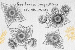 Sunflower clipart collection Product Image 4